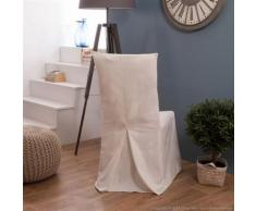 Housse de chaise bachette 100% coton blanc INES - Textile séjour
