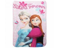 Disney La Reine des neiges - Couverture polaire Sisters Forever (Taille unique) (Rose) - UTKF259 - Linge de lit