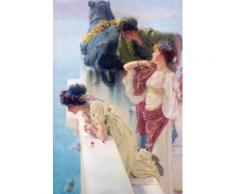Sir Lawrence Alma-Tadema Papier Peint Photo/Poster Autocollant - Position Avantageuse, 1895 (180x120 cm) - Décoration murale