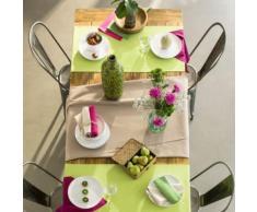 Chemin de table en coton Gris - linge de table et décoration