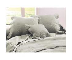 Housse coussin 45 x 45 cm pour boutis uni - Linge de lit