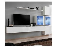 paris prix - meuble tv mural design 'switch xix' 310cm blancparis prix - meuble tv mural design 'switch xix' 310cm blanc - autres