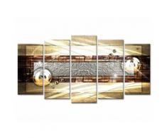 Tableau Déco Abstrait Déco Contemporaine Bulles - 150x80 cm - Décoration murale