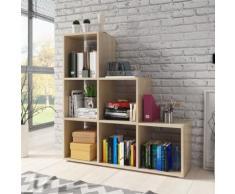CASSI - Étagère escalier - effet chêne - Bibliothèques