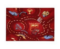 Associated weavers kids corner rwocaga10095133t06 tapis de sol disney cars rouge 95 x 133 cm - Accessoires de rangement
