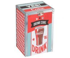 Boite rectangulaire en bois Coca-Cola - Accessoires de rangement