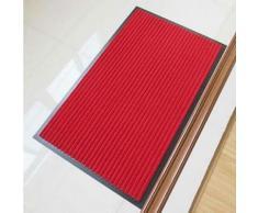 Tapis antidérapant classique en polypropylène 40 x 60 cm Rouge - Accessoires de bain