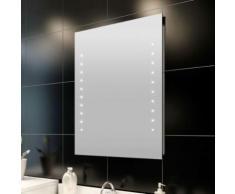 Miroir de salle de bain avec lumières LED 60 x 80 cm (L x H) - Miroir