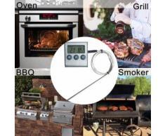 Sonde numérique cuisson de la viande Thermomètre LCD rétroéclairage Alimentation Grill Thermomètre_Kiliaadk59 - Accessoires de rangement