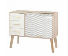 Meuble d'entrée à rideau, 3 tiroirs - ARKOS n°5 - Commodes