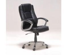 Chaise de bureau sur roulettes avec accoudoirs L69xP64xH116cm BORIS - Noir - Sièges et fauteuils de bureau