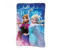 Plaid polaire La Reine des Neiges couverture enfant Disney Frozen, Ana et Elsa - Textile séjour
