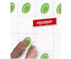 Appliques sticker autocollant pour carrelage - Décoration spirales vertes - Décoration murale