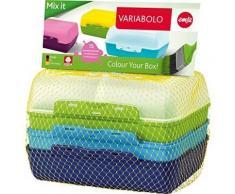 Emsa 517053 variabolo boîte-repas pour garçon plastique multicolore 18 x 18 x 12 cm pack de 4 - Accessoires de rangement