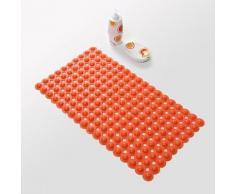 Tapis antidérapant moderne en PVC 40 x 70 cm Orange - Accessoires de bain