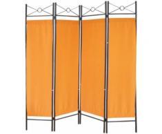 No Name 1 - Paravent 4 pans en métal motif géométrique Orange - Objet à poser