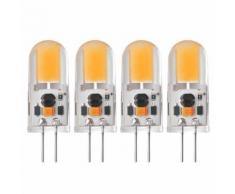 Sunix 4pcs Ampoules LED de 5W G4 COB Angle de Faisceau Ampoule en Cristal Projecteur LD862 - Équipements électriques pour luminaire