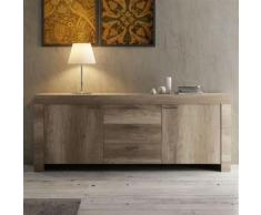 Nouvomeuble - Enfilade contemporaine couleur chêne loggia - Buffets