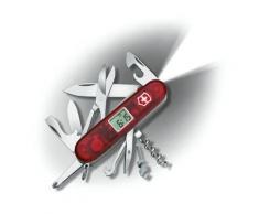 Couteau Suisse de Poche - 23 Pieces - Victorinox Voyager Lite - 1.7905.VT - Rouge Transparent - Ustensiles