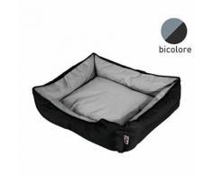 Panier rectangle 73cm - Noir et gris - Pour chien - Textile séjour