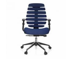 Chaise de bureau / Chaise pivotante ERGO LINE II tissu bleu hjh OFFICE - Sièges et fauteuils de bureau