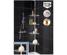Etagère téléscopique en inox angle de salle de bain - Accessoires de bain
