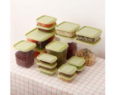 Cuisine Boîte de rangement en plastique d'étanchéité Conservation des aliments frais Pot Container Kiliaadk448 - Boite de rangement