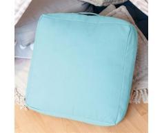 Coussin de sol Belle 50 x 50 x 15 cm bleu - Textile séjour