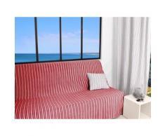 Jeté de canapé 170x250 cm COTONADE rouge - Textile séjour