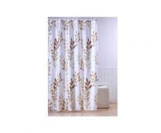 Frandis rideau douche textile feuilles beige - Soin du linge