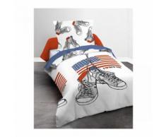 Parure de lit enfant basket 140x200 - Linge de lit