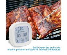 Thermomètre tactile Alimentation numérique thermomètre à viande pour la cuisine cuisson BBQ_Kiliaadk38 - Accessoires de rangement