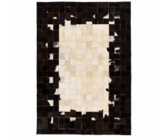 Homgeek Tapis Salon Vintage Rectangle 160 x 230 cm Carré Noir/Blanc d'extérieur/d'intérieur - Textile séjour