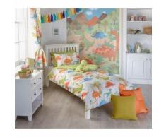 Riva Home - Draps housse Dinosaure - Enfant (Taille 2: Lit double) (Multicolore) - UTRV1024 - Equipement du lit