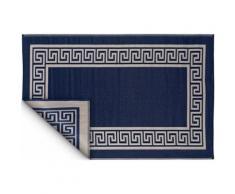 Fabhabitat - Tapis intérieur extérieur Athens bleu marine et crème 270 x 180 cm - Tapis et paillasson