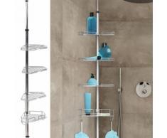 Etagère d'angle de douche télescopique en acier inoxydable - Accessoires salles de bain et WC