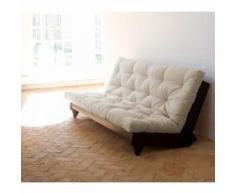 Banquette futon fresh en bois wengé 140x200 - Terre de Nuit - Sommiers