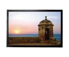 Couchers De Soleil Paillasson Essuie-Pieds - Vue Sur La Mer De La Forteresse Historique (40x60 cm) - Tapis et paillasson