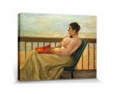 Max Liebermann Poster Reproduction Sur Toile, Tendue Sur Châssis - Martha Liebermann, La Femme De l'Artiste À La Plage, 1895 (60x80 cm) - Décoration murale