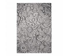 Tapis MADISON fleuri par Esprit Home motif Floral Gris 133x200 - Tapis et paillasson