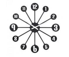 Koziol - Horloge murale PINBALL noir - Décoration murale
