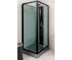 Aqua+ - Cabine de douche rectangle transparent accès de face porte coulissante 80x100 - ASTORIA - Installations salles de bain