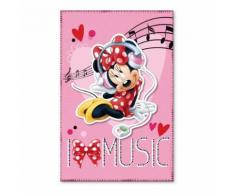 Plaid polaire Minnie Mouse couverture STAR Music - Textile séjour