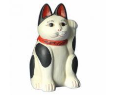 Petite statuette japonaise Chat porte bonheur en résine - Objet à poser