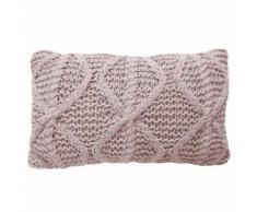 Overseas Oreiller tricoté 30 x 50 cm en coton Rougeâtre Coussin décoratif - Textile séjour