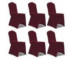 Housse extensible pour chaise 6 pièces pour salle à manger Modèle 2 - Objet à poser