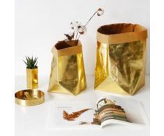 Lavable Kraft sac de papier planter des fleurs Pots multifonctions Stockage Sac d'or Kiliaadk99 - Boite de rangement