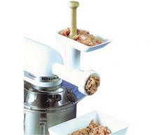 Hachoir professionnel avec cornets daptable sur les batteurs mélangeurs Kitchenaid, livré avec 2 grilles à trous Ø 4,5 et 9 mm 1 pilon et 2 cornets Ø 10 et 16 mm - Robots de cuisine