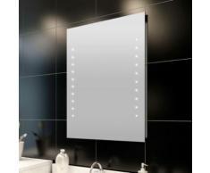 Miroir avec éclairage pour salle de bain 60 X 80 cm - Miroir
