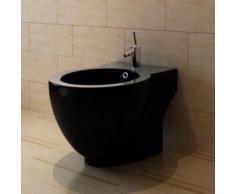 Bidet rond à poser en céramique sanitaire noir - Installations salles de bain